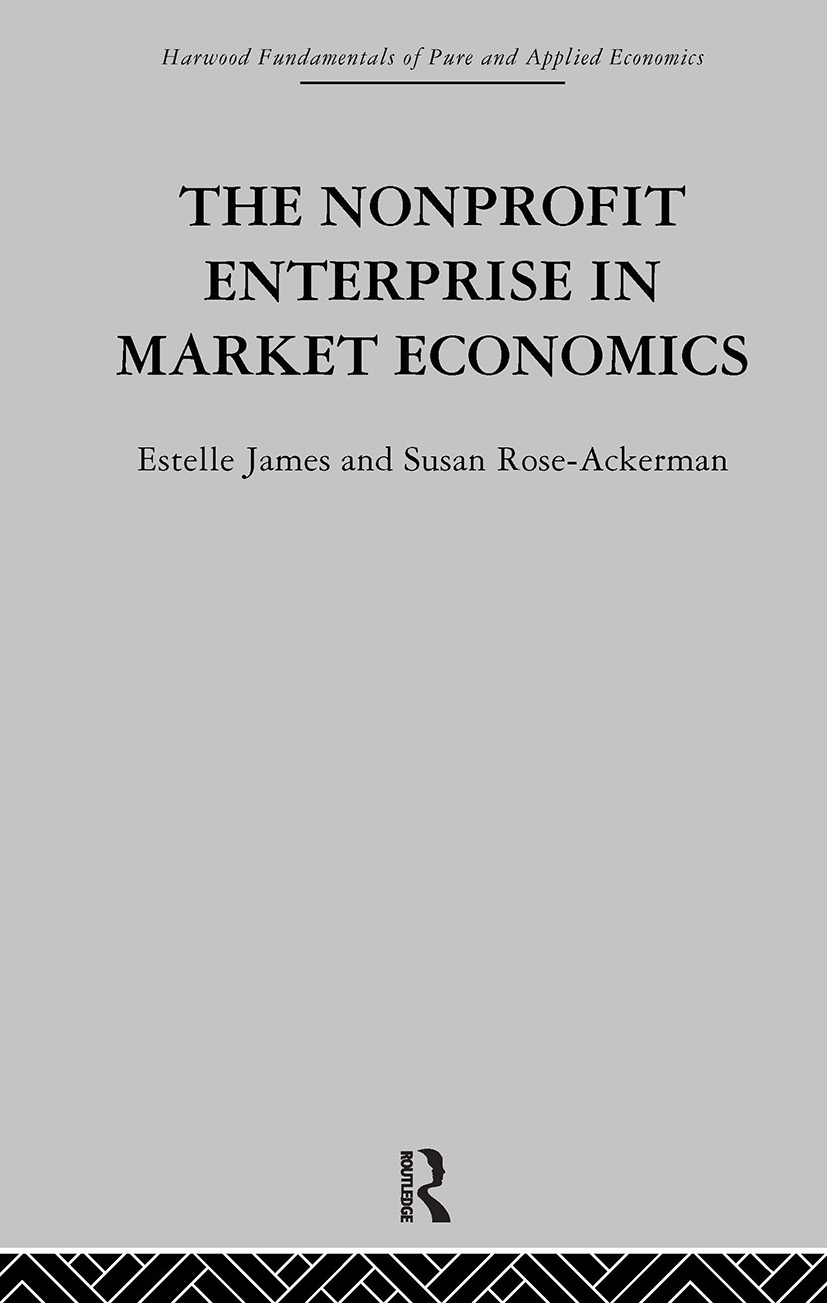 The Non-profit Enterprise in Market Economics (Hardback) book cover