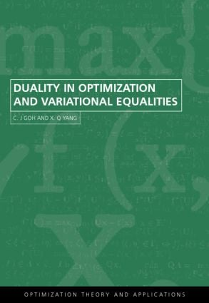 Duality in Optimization and Variational Inequalities: 1st Edition (Hardback) book cover