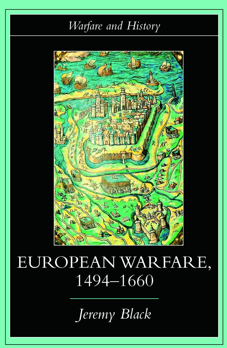 European Warfare, 1494-1660 (Paperback) book cover