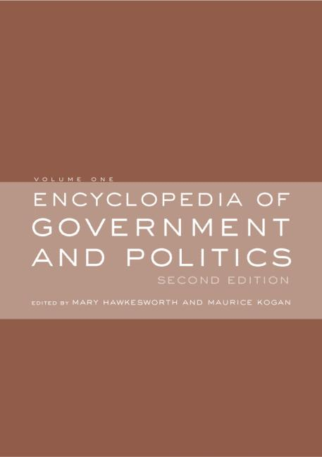 Encyclopedia of Government and Politics: 2-volume set (Hardback) book cover