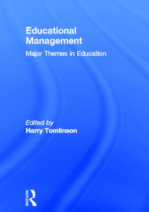 Educational Management: Major Themes in Education book cover