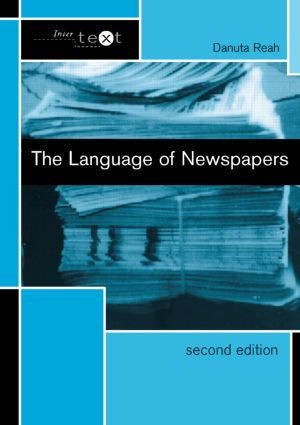 The Language of Newspapers book cover