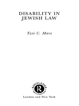 Disability in Jewish Law book cover