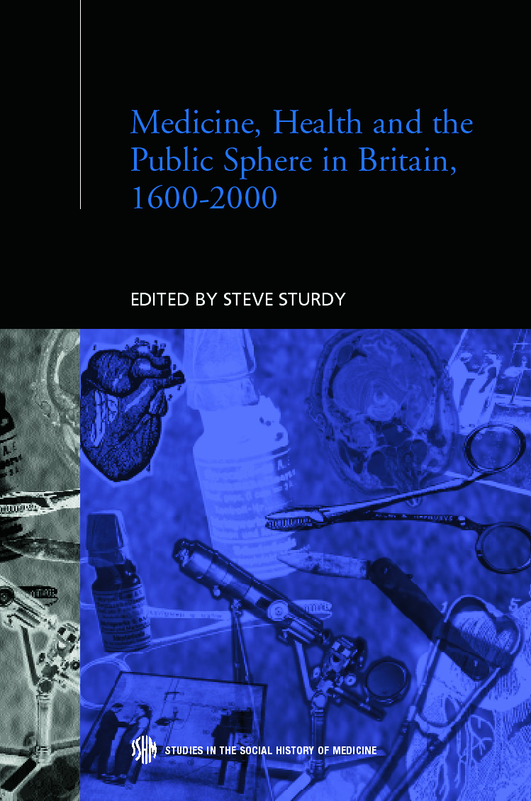 Medicine, Health and the Public Sphere in Britain, 1600-2000 (Hardback) book cover