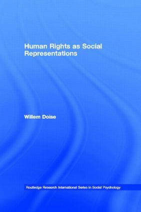 Human Rights as Social Representations book cover