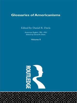 Glossaries Of Americanisms V (Hardback) book cover