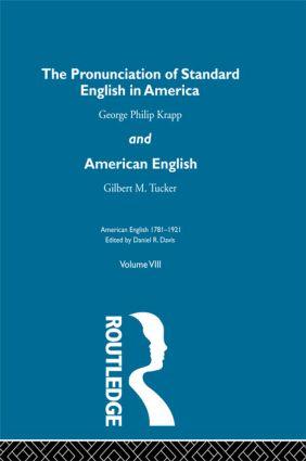 Pronunc Standard Eng America V: 1st Edition (Hardback) book cover