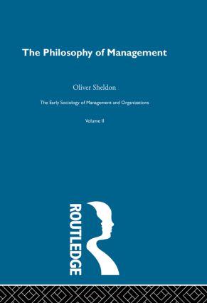 The Philosophy of Management book cover