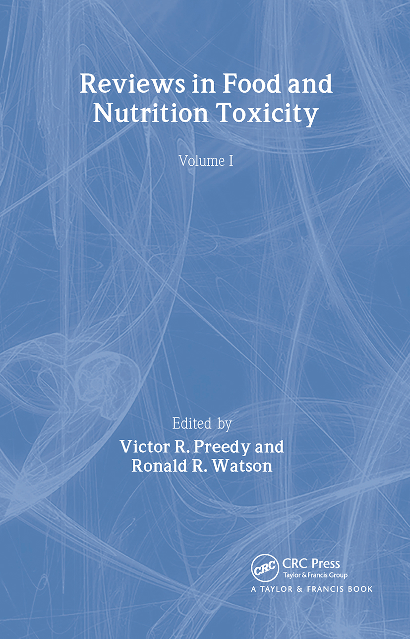 Reviews in Food and Nutrition Toxicity: 1st Edition (Hardback) book cover