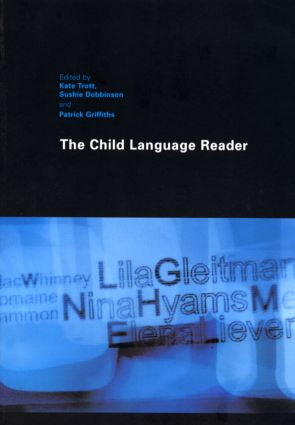 The Child Language Reader (Paperback) book cover