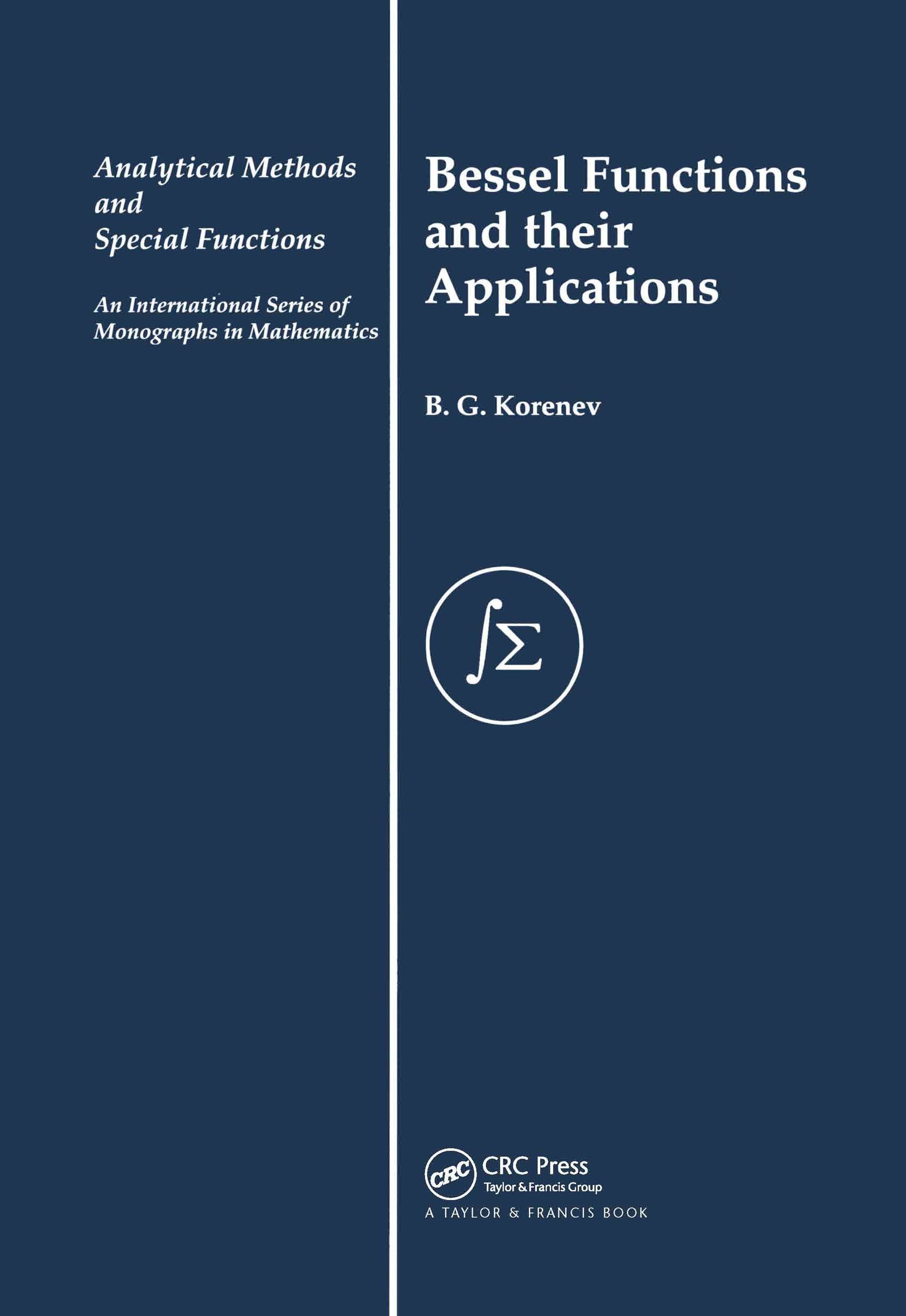 Bessel Functions and Their Applications book cover