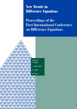 New Trends in Difference Equations: Proceedings of the Fifth International Conference on Difference Equations Tampico, Chile, January 2-7, 2000, 1st Edition (Hardback) book cover