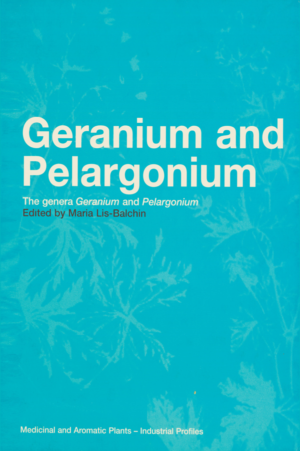 Geranium and Pelargonium: History of Nomenclature, Usage and Cultivation (Hardback) book cover