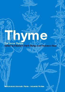 Thyme: The Genus Thymus book cover