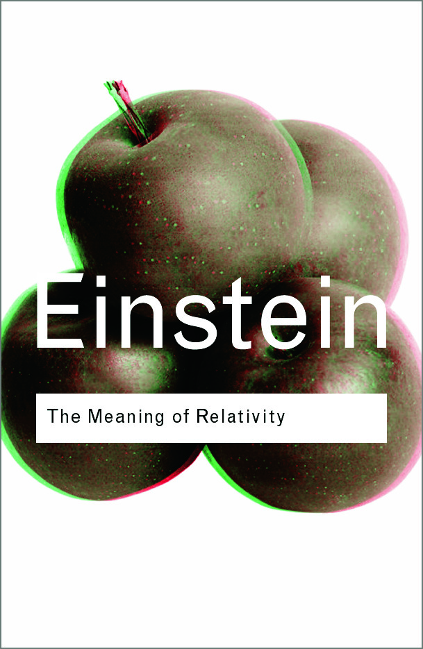 The Meaning of Relativity (Paperback) book cover