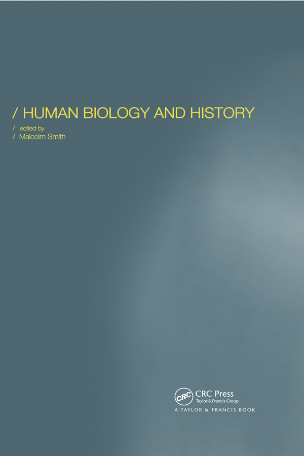 Human Biology and History: 1st Edition (Hardback) book cover