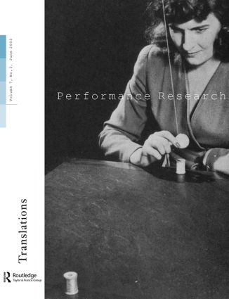 Performance Research V7 Issu 2 book cover