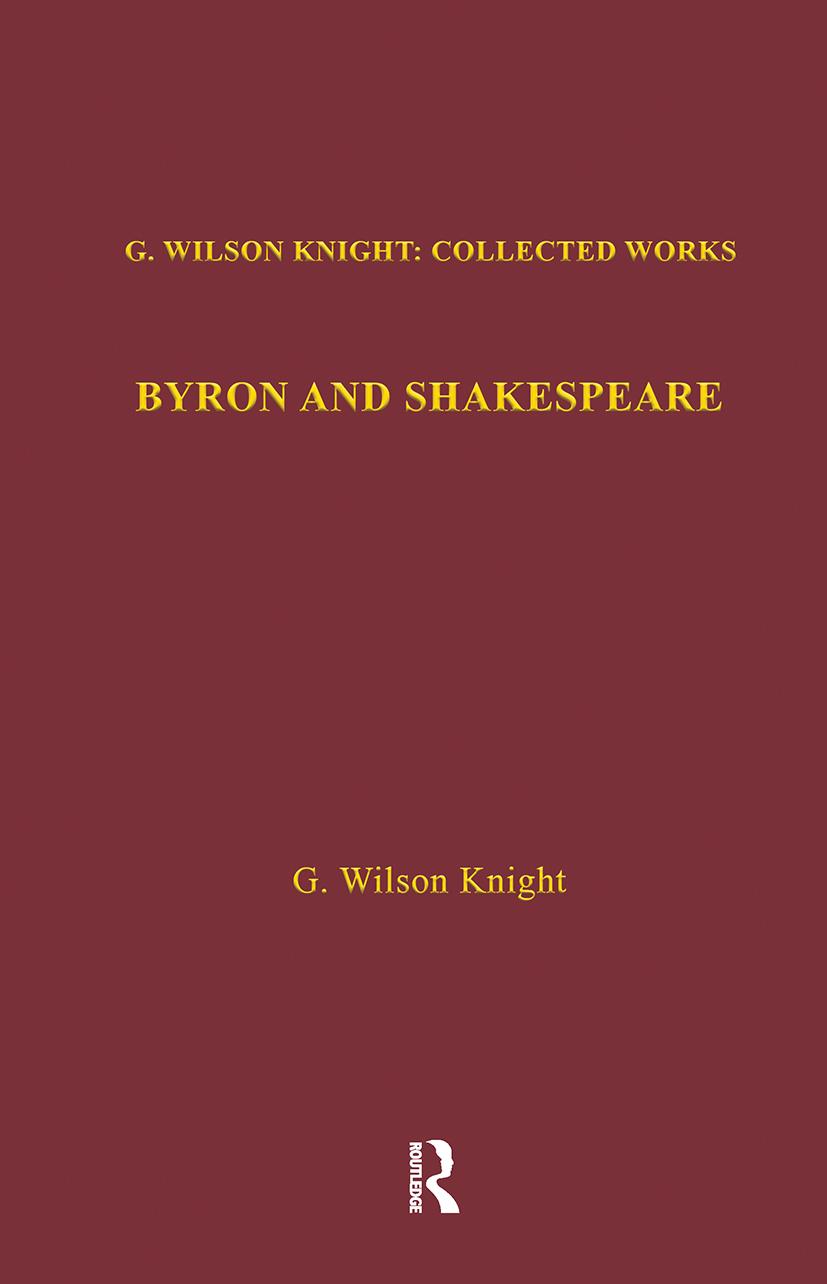 Byron & Shakespeare - Wils Kni (Hardback) book cover