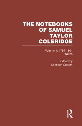 Coleridge Notebooks V1 Notes book cover