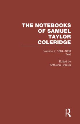 Coleridge Notebooks V2 Text book cover