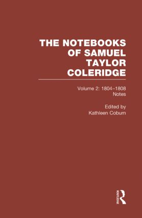 Coleridge Notebooks V2 Notes book cover