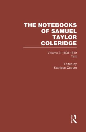Coleridge Notebooks V3 Text book cover