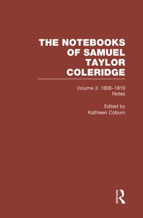 Coleridge Notebooks V3 Notes book cover