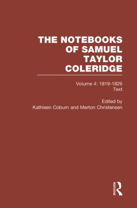 Coleridge Notebooks V4 Text book cover