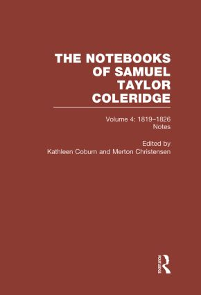 Coleridge Notebooks V4 Notes book cover