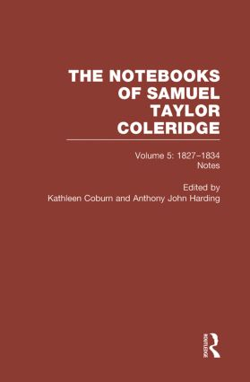 Coleridge Notebooks V5 Notes book cover