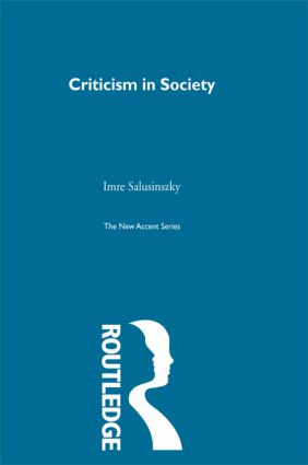 Criticism & Society (Hardback) book cover