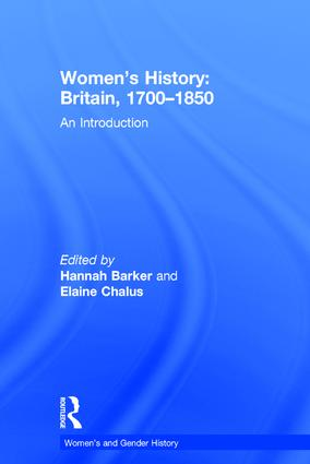 Women's History, Britain 1700–1850: An Introduction book cover