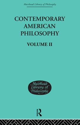 Contemporary American Philosophy