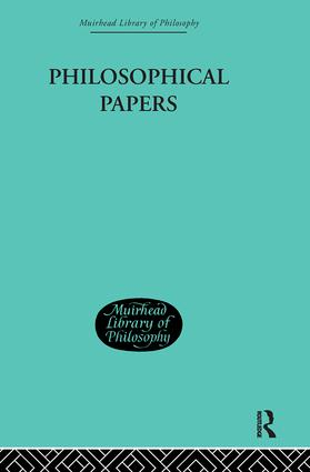 Philosophical Papers: 1st Edition (Hardback) book cover