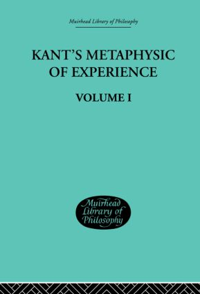 BOOK THE METAPHYSICAL DEDUCTION OF THE CATEGORIES