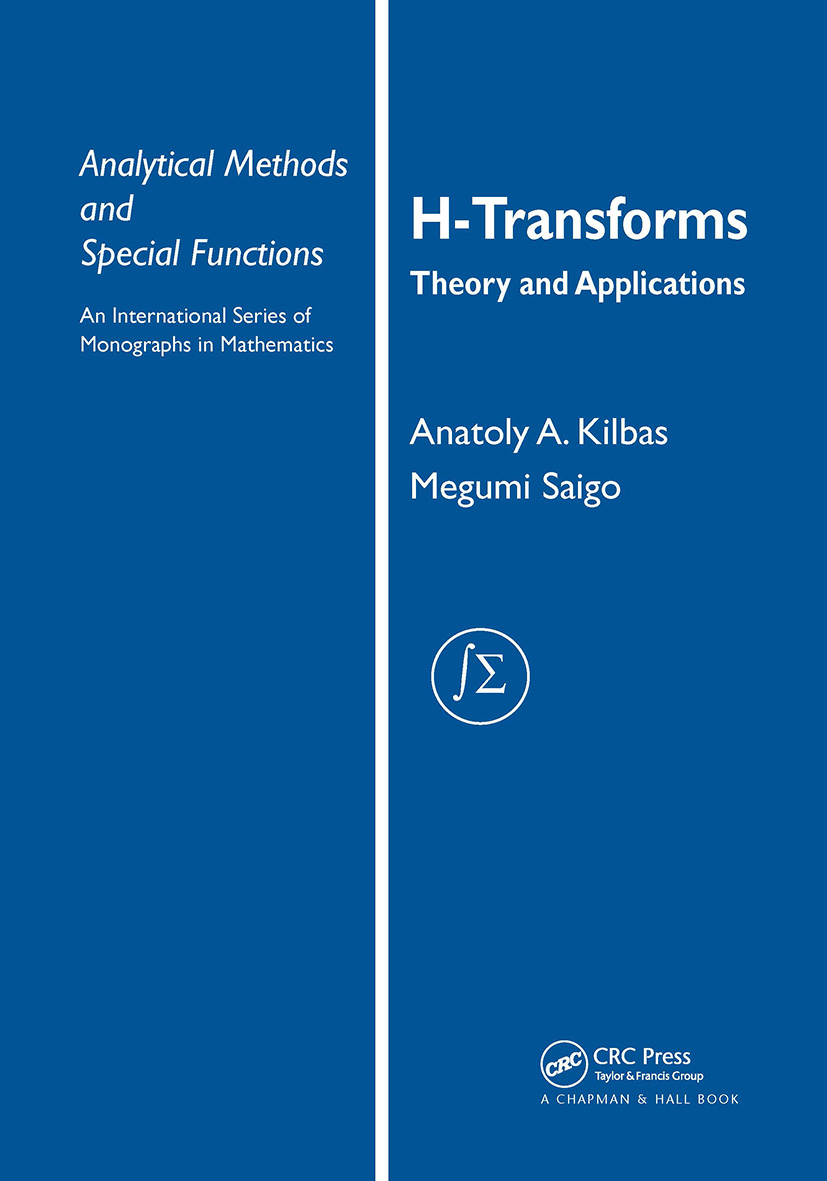 H-Transforms: Theory and Applications, 1st Edition (Hardback) book cover