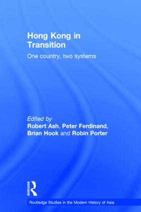 Hong Kong in Transition: One Country, Two Systems, 1st Edition (Hardback) book cover