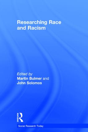 Researching Race and Racism: 1st Edition (Hardback) book cover