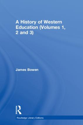 A History of Western Education (Volumes 1, 2 and 3): 1st Edition (Hardback) book cover