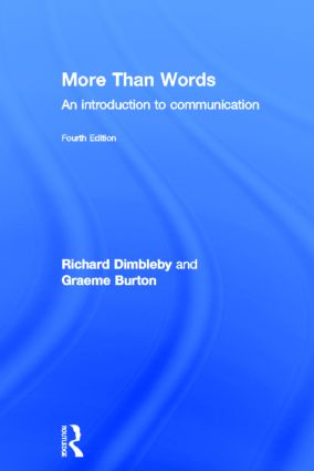 More Than Words: An Introduction to Communication, 4th Edition (Hardback) book cover