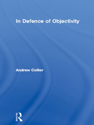 In Defence of Objectivity book cover