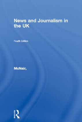 News and Journalism in the UK book cover
