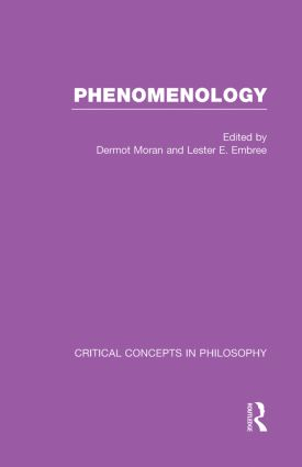 Phenomenology:Crit Con In Phil (Hardback) book cover