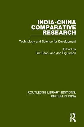 India-China Comparative Research: Technology and Science for Development book cover
