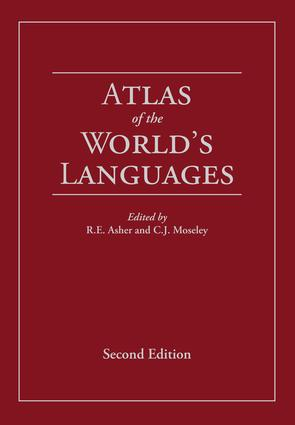 Atlas of the World's Languages: 2nd Edition (Hardback) book cover