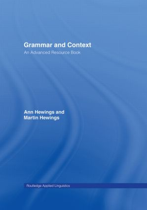 Grammar and Context: An Advanced Resource Book, 1st Edition (Hardback) book cover