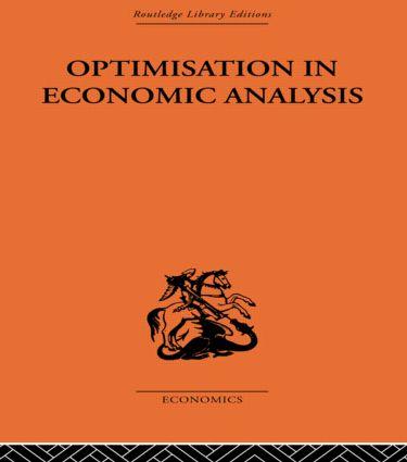 Optimisation in Economic Analysis