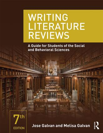 Writing Literature Reviews: A Guide for Students of the Social and Behavioral Sciences book cover