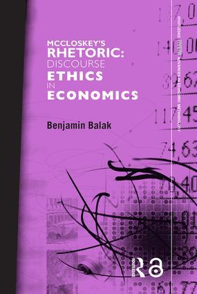 McCloskey's Rhetoric: Discourse Ethics in Economics book cover