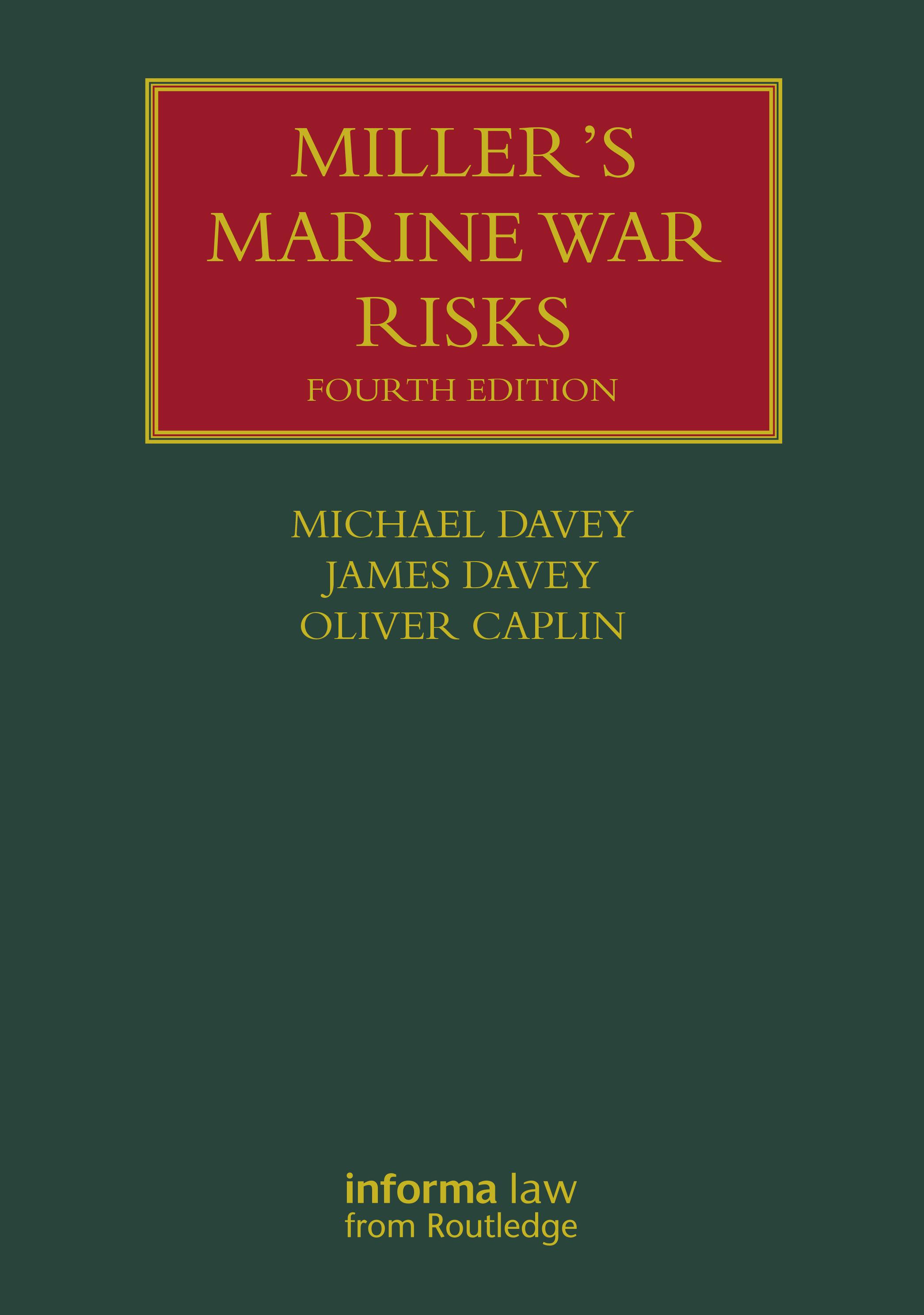 Miller's Marine War Risks Fourth Edition